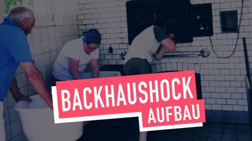 Aufbau Backhaushock
